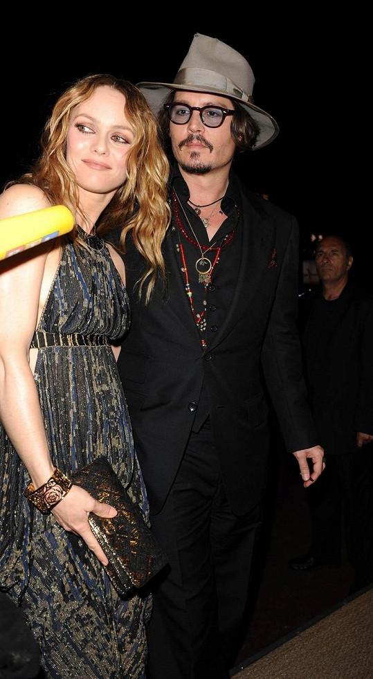 Rodiče Johnny Depp a Vanessa Paradis
