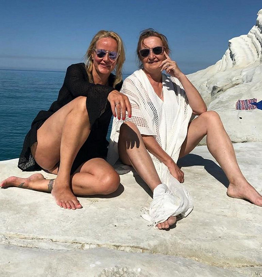 Do Itálie přijela navštívit Evu Holubovou.