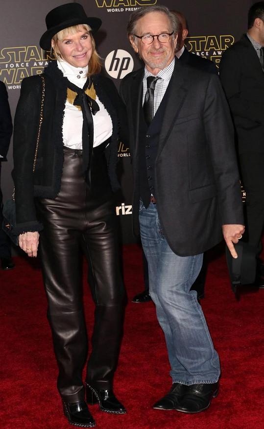 Kate Capshaw a Steven Spielberg na premiéře Star Wars: Síla se probouzí