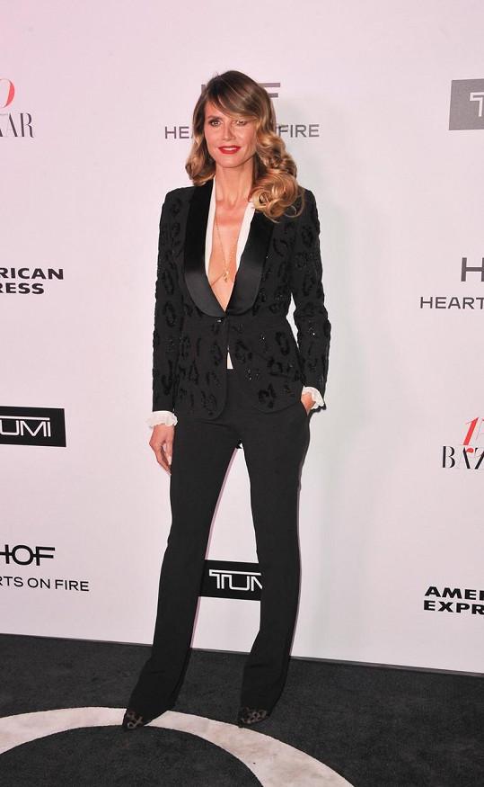 Heidi Klum přišla bez podprsenky.