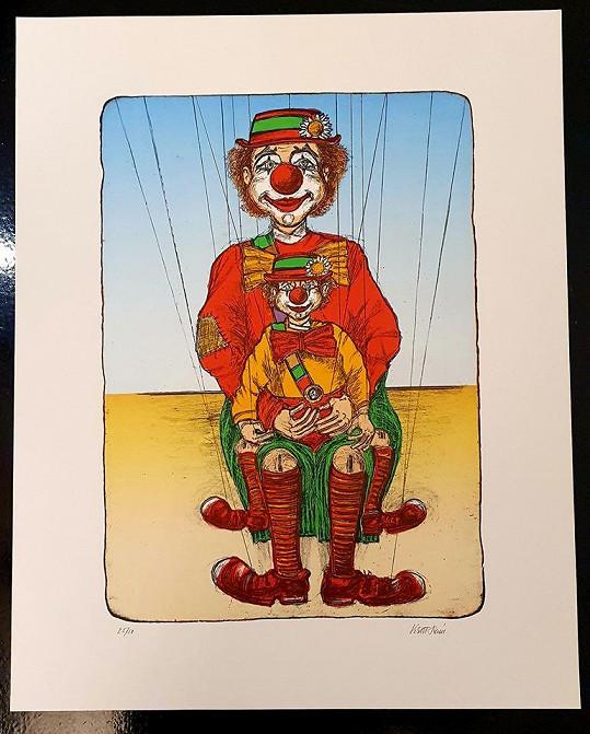 Tento obraz je z prostředí klaunů.