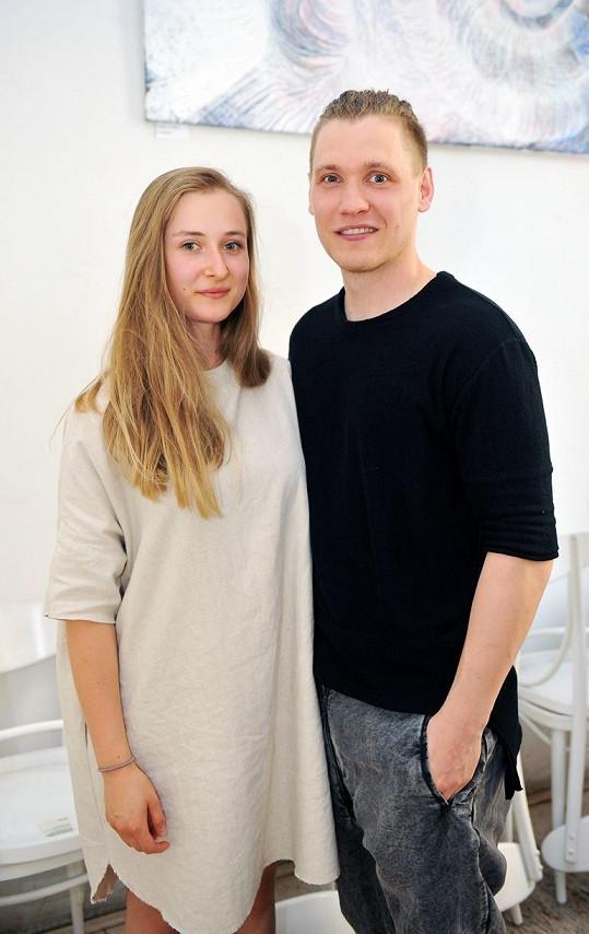 Roman Kotlář s partnerkou