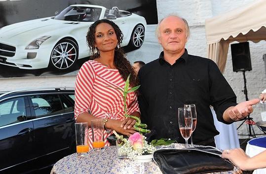 Lejla Abbasová s partnerem Michaelem Kocábem v době, kdy ještě tvořili pár.