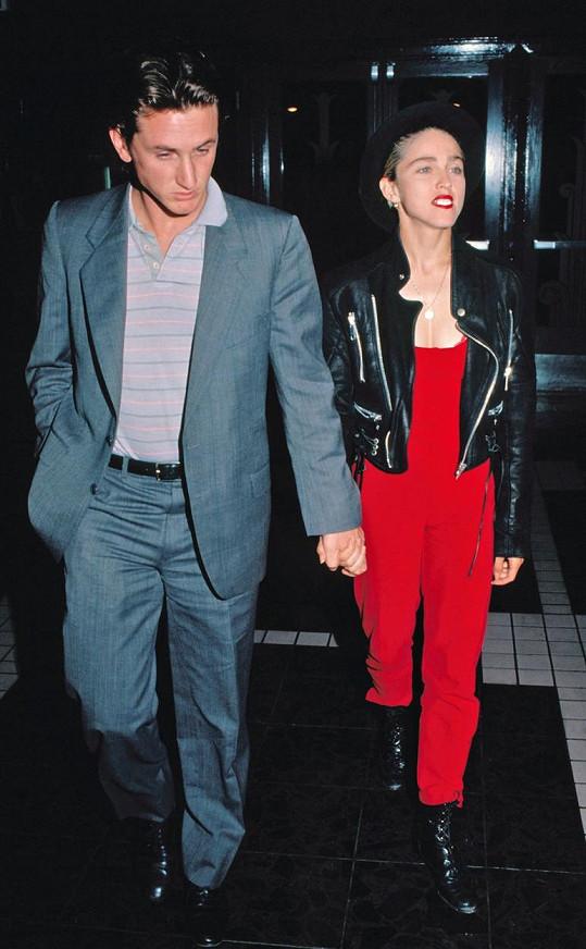 Madonna a Sean Penn byli v letech 1985-1989 manželé.