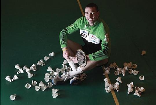 Úspěšný badmintonista Petr Koukal už hledá novou spoluhráčku do života.