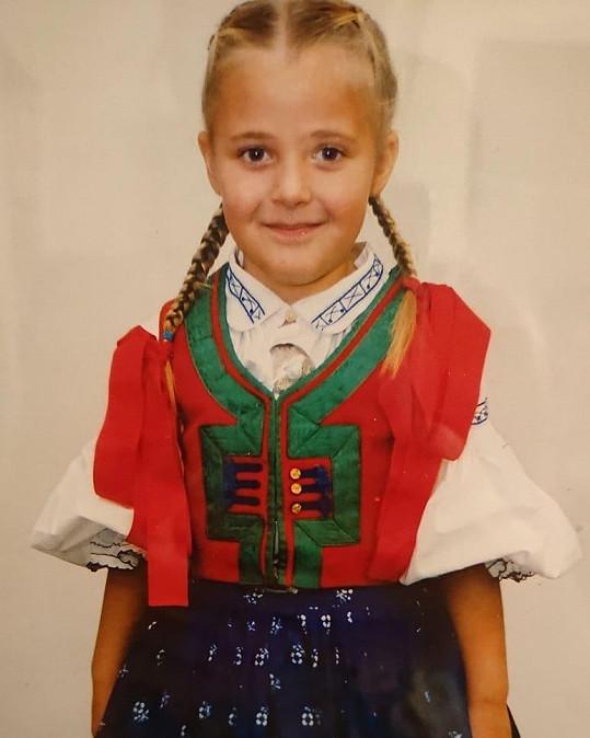 Anna Slováčková sdílela s fanoušky své první krůčky k hudbě.