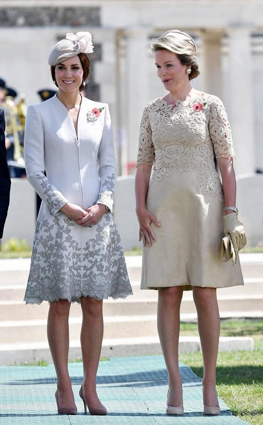 Kate s belgickou královnou Mathilde