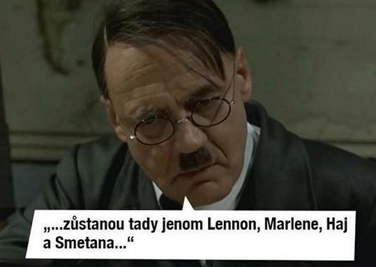 Jménu dcery Emmy Smetany se dle vtipálků diví i Adolf Hitler.