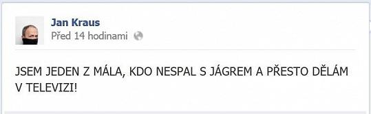 Na Puhajkovou zaútočil Kraus na svém profilu na Facebooku.