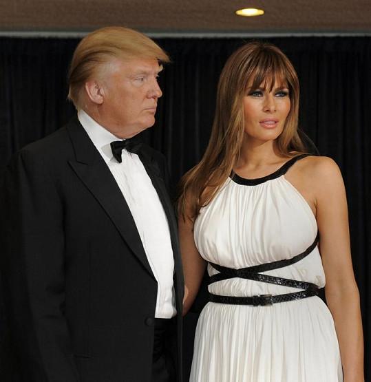 Donald Trump a slovinská modelka Melania Knauss.