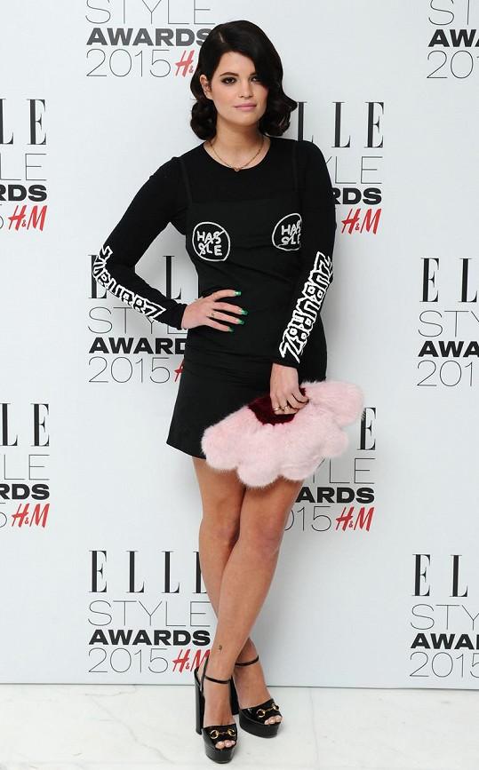 Pixie Geldof letos v únoru na Elle Style Awards