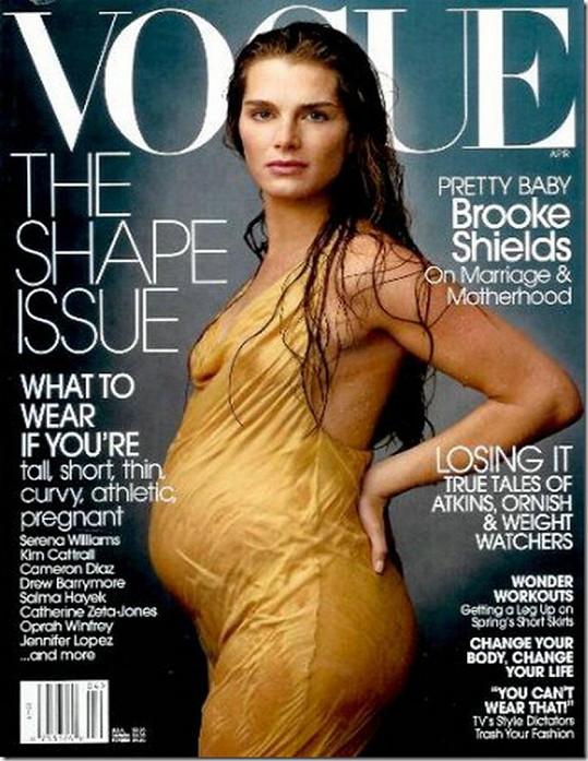 Archivy magazínů ukrývají množství obálek s Brooke Shields, pro Vogue pózovala už ve 14, později ještě několikrát včetně doby těhotenství.