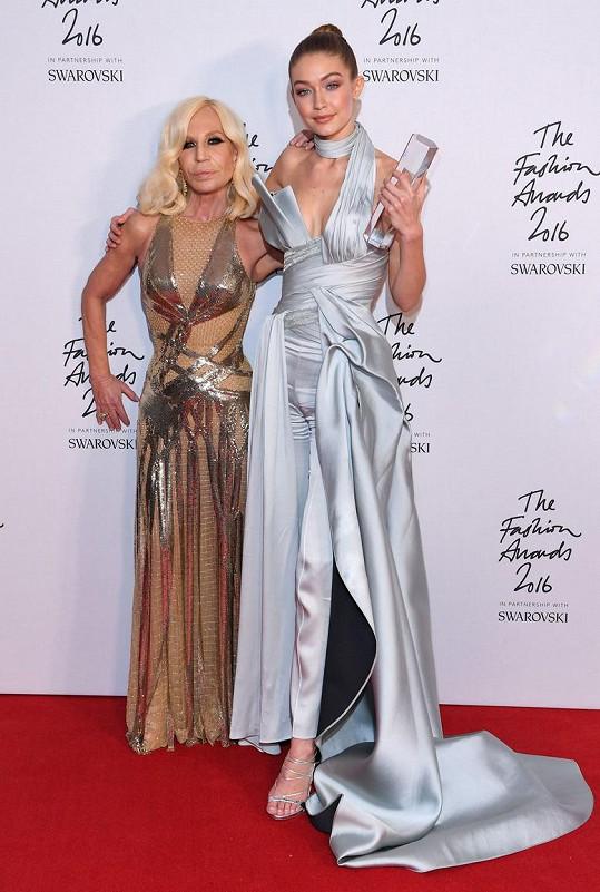 Donatella Versace s modelkou Gigi Hadid
