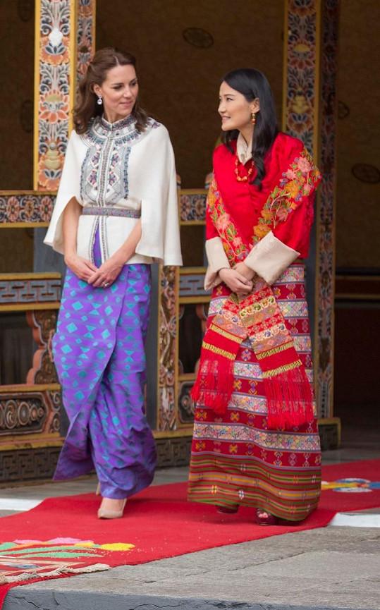 Kate s bhútánskou královnou Džetsun Pemou