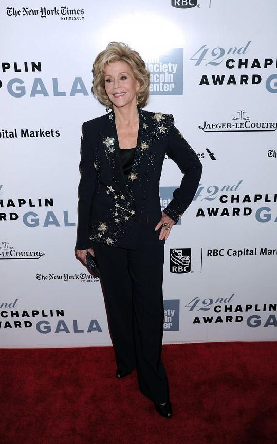 Jane Fonda na udílení Chaplin Awards