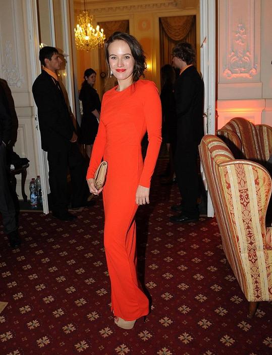 Tereza Voříšková v červené zářila.