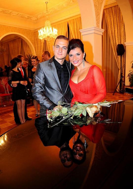 Andrea s přítelem Filipem Zikou.