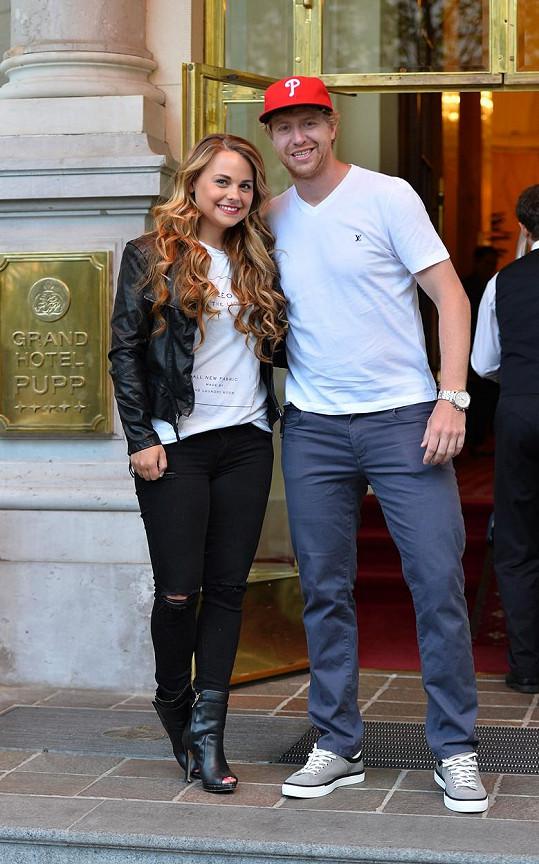Jakub Voráček s expartnerkou Nicole