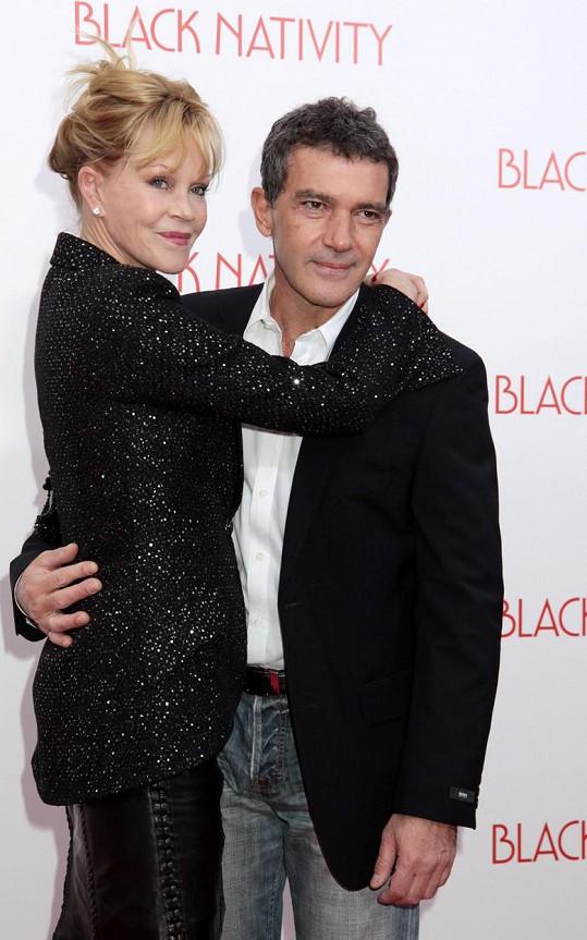 Antonio Banderas má s bývalou manželkou Melanií Griffith skvělý vztah.
