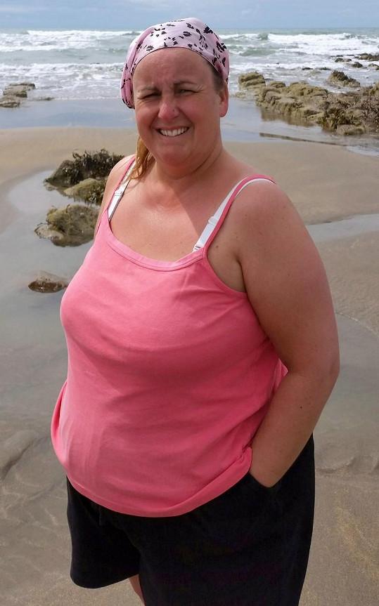 Amanda v době, kdy vážila 108 kil.