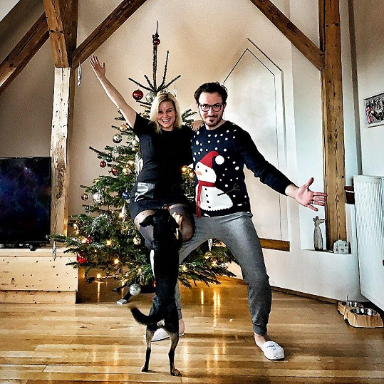 Herečka s manželem Tiborem