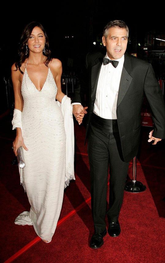 Snowdon s dávnou láskou Georgem Clooneym. Chodili spolu s přestávkami v letech 2000 a 2005.