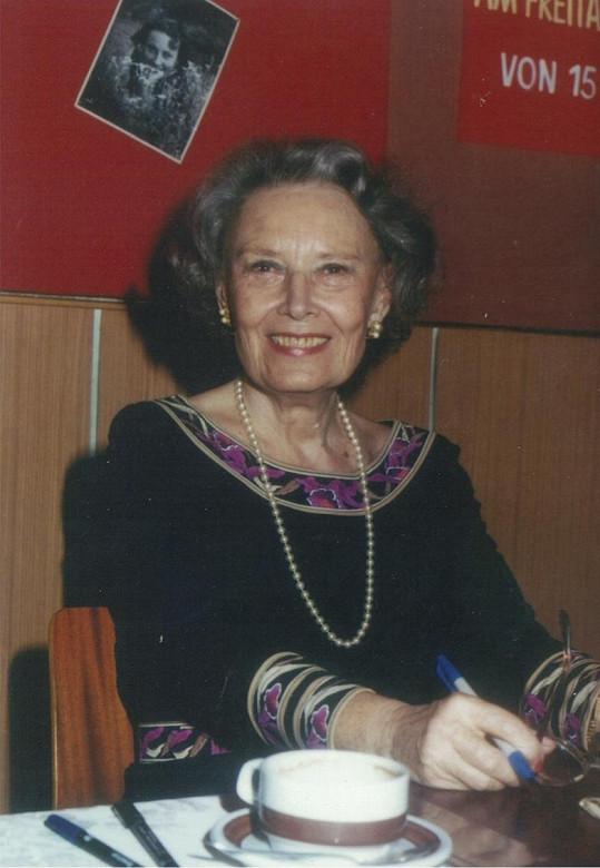 Lída Baarová krátce po revoluci. Do Čech se přijela ze Salcburku podívat už jen jednou.