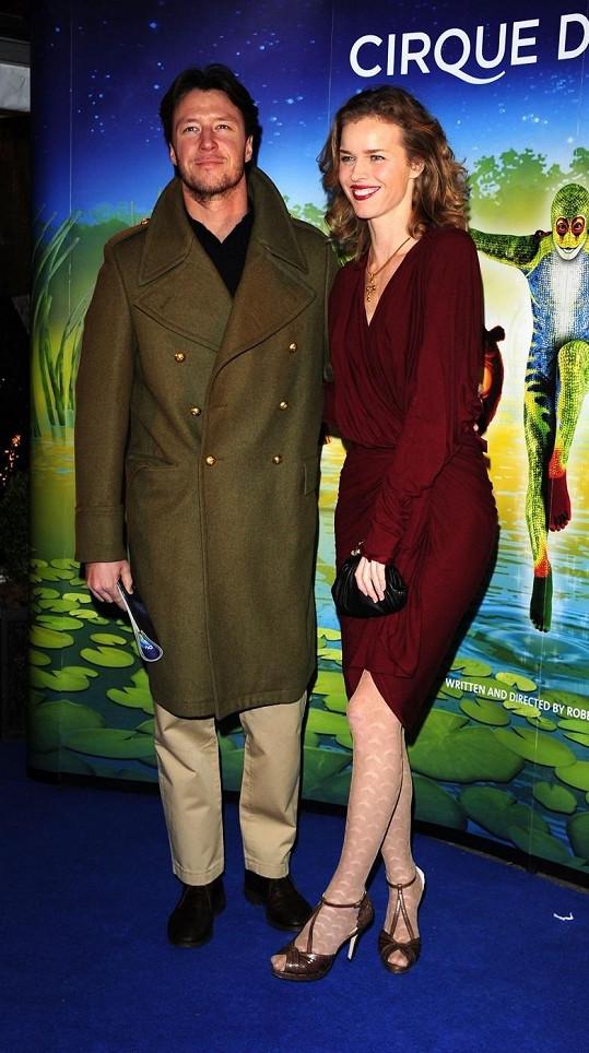 Eva Herzigová s manželem.