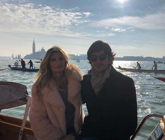 S manželem si užili romantiku v Benátkách.