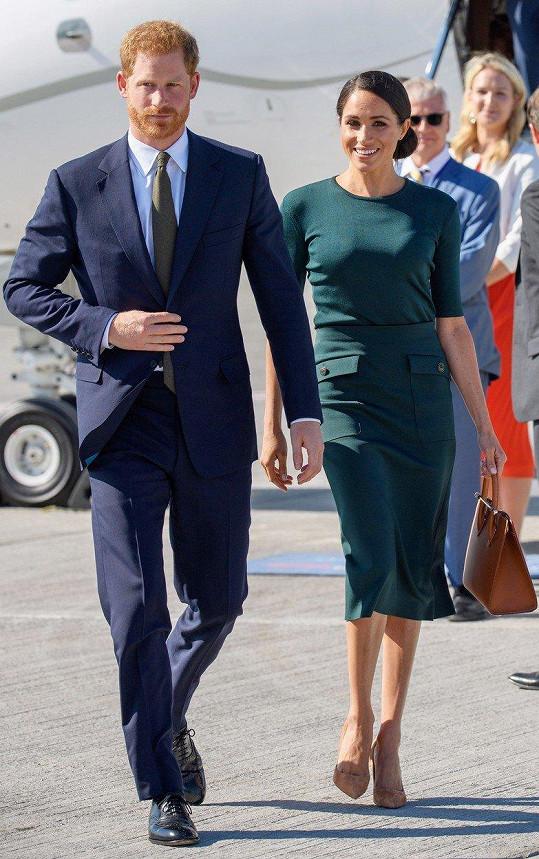 Vévodkyně v Dublinu vystoupila ve smaragdově zelených šatech.
