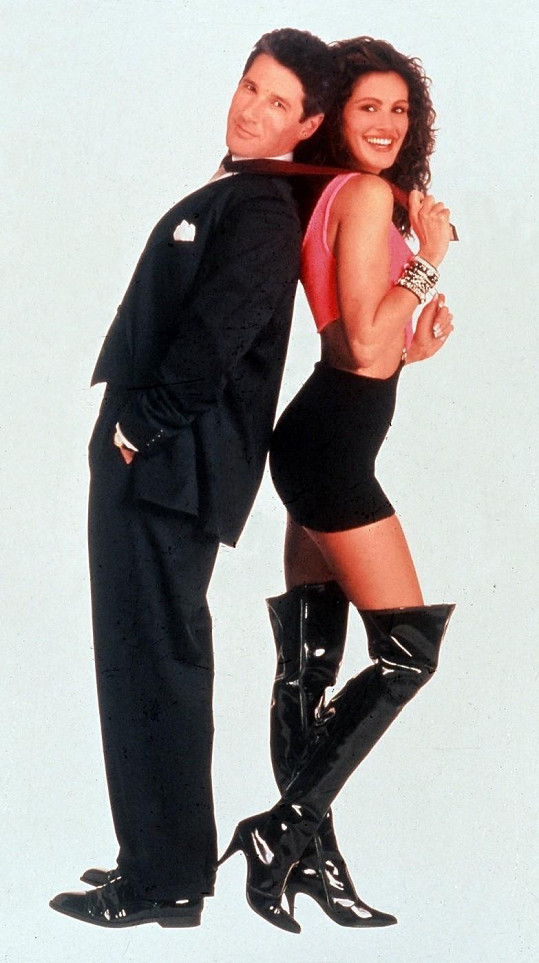 Julia Roberts jako prostitutka s Richardem Geerem v Pretty Woman.