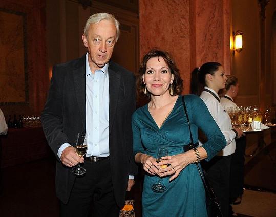 Michaela Dolinová s manželem soudcem