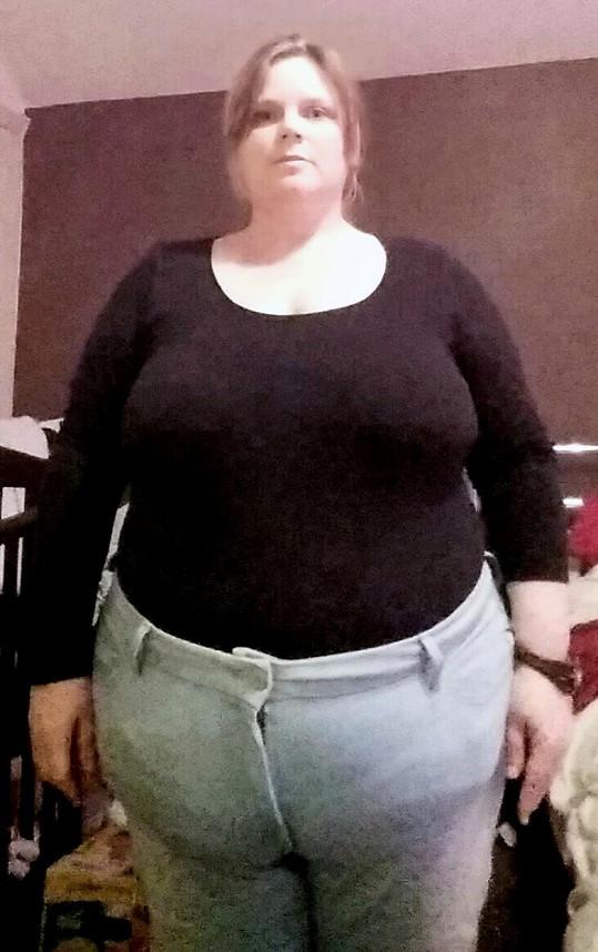 Dawn Hallsworth ve svém tučném období