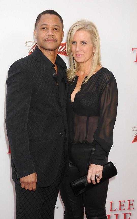 Cuba Gooding Jr. s manželkou Sarou Kapfer