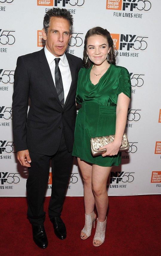 Ben Stiller a jeho patnáctiletá dcera Ella