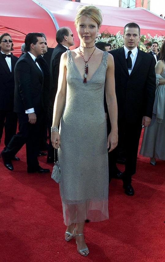 Gwyneth Paltrow na předávání Oscarů v roce 2000