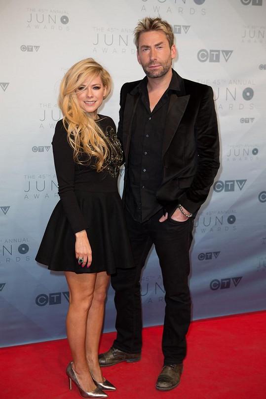Avril Lavigne a Chad Kroeger na udílení kanadských hudebních cen Juno