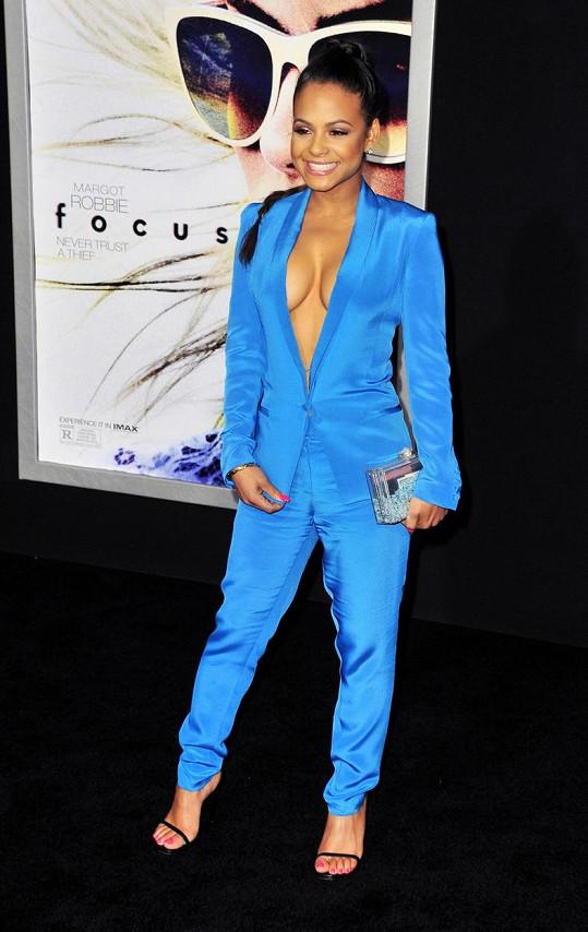Christina Milian na premiéře filmu Focus