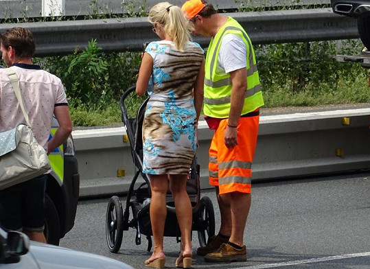 Kateřina Brožová těsně po nehodě na D1