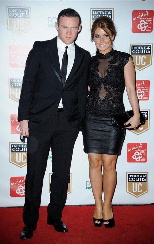 Wayne Rooney má s manželkou Coleen už tři děti. Další potomek je na cestě.