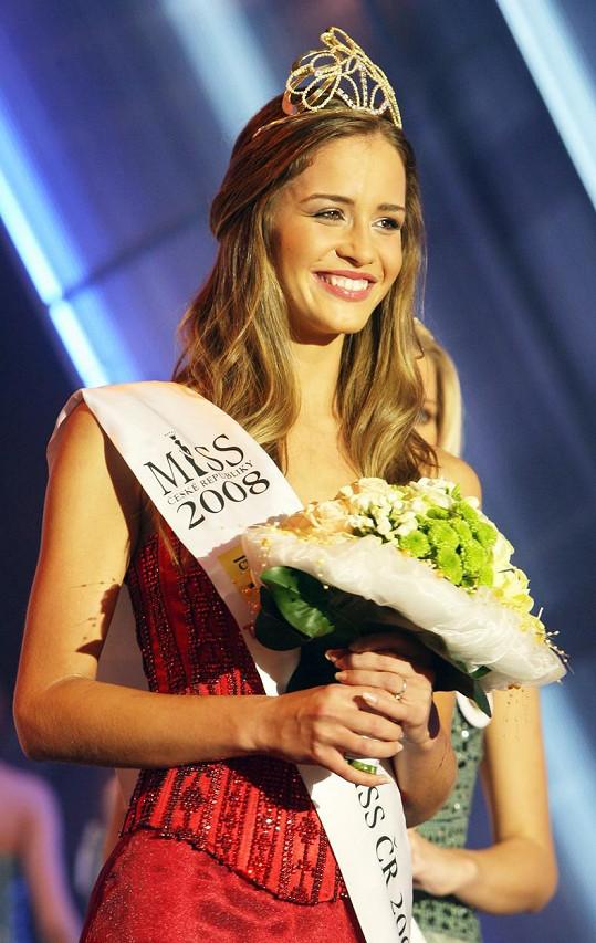Zuzana Jandová v roce 2008, kdy se stala Miss ČR