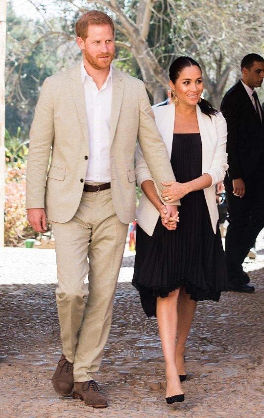 Královský pár navštívil Maroko.