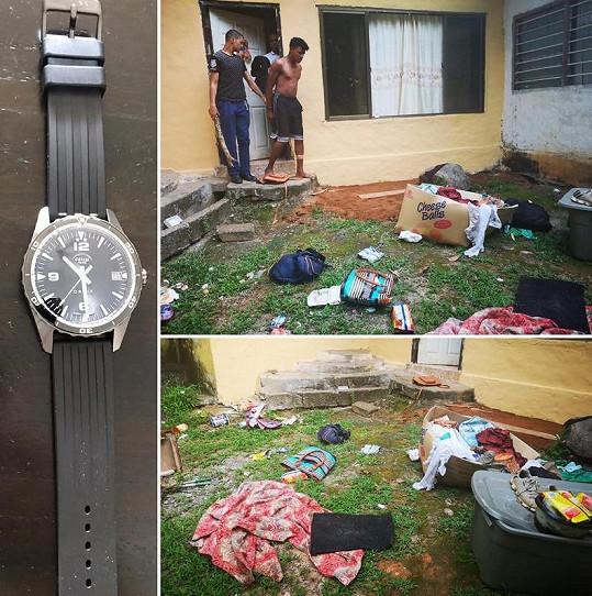 Místo, kde zatkli zločince a našli ukradené věci.