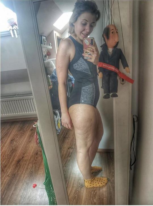 Anna Slováčková ukázala tělo bez retuše.