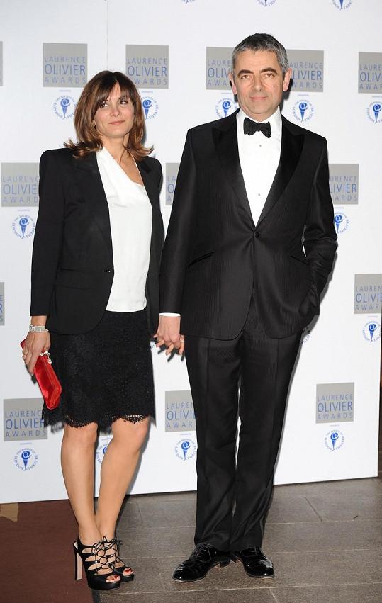 Rowan s exmanželkou Sunetrou Sastry