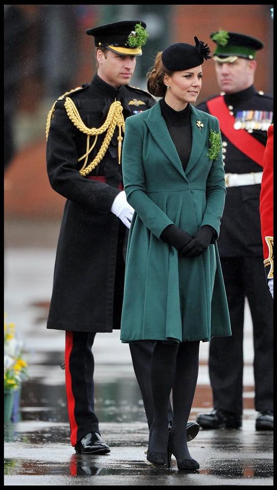 Princ William s chotí během oslav Dne svatého Patrika.