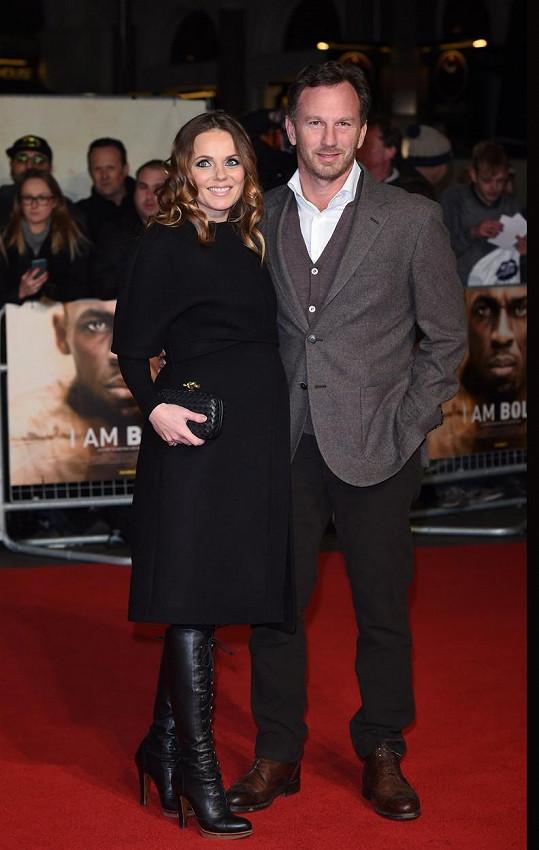 Geri s manželem Christianem Hornerem loni v listopadu