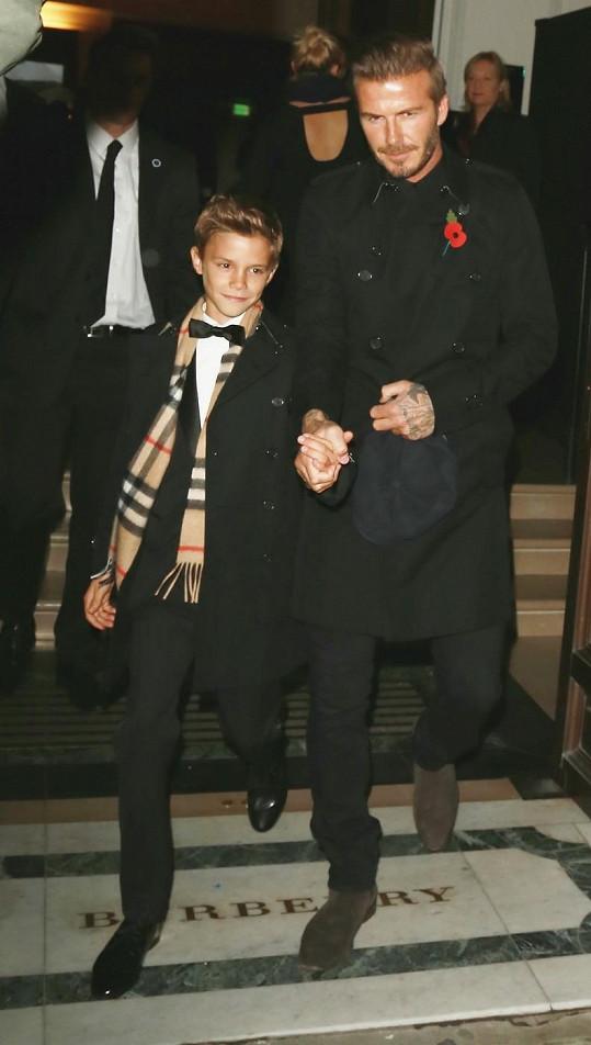 S tátou Davidem na akci pořádané britskou značkou
