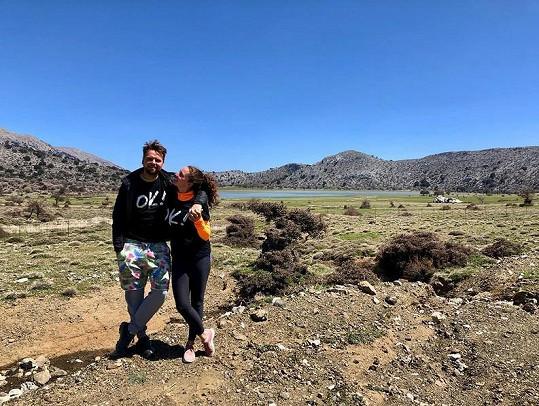 Zpěvák vyrazil se svou ženou Marlene na řecký ostrov Kréta.