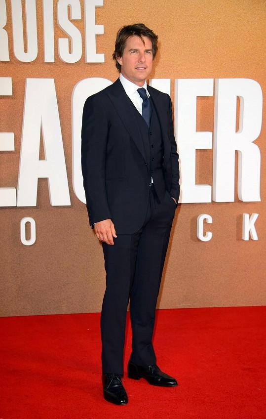 Tom Cruise na premiéře filmu Jack Reacher: Nevracej se